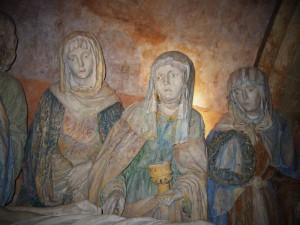 マグダラのマリア(中央) シャンパーニュ地方シャウルスの『キリストの埋葬』から