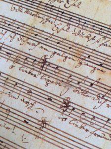 自筆譜「おお、おまえ、ばかなマルティンよ」 KV560b(4声カノン)