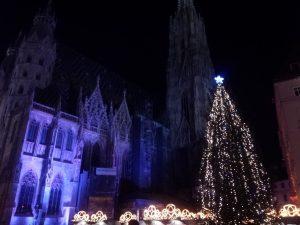 シュテファン教会のクリスマスツリー